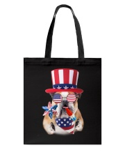 Independence Day Bulldog Tote Bag tile