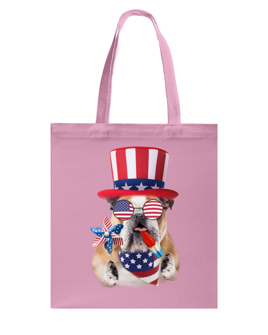 Independence Day Bulldog Tote Bag