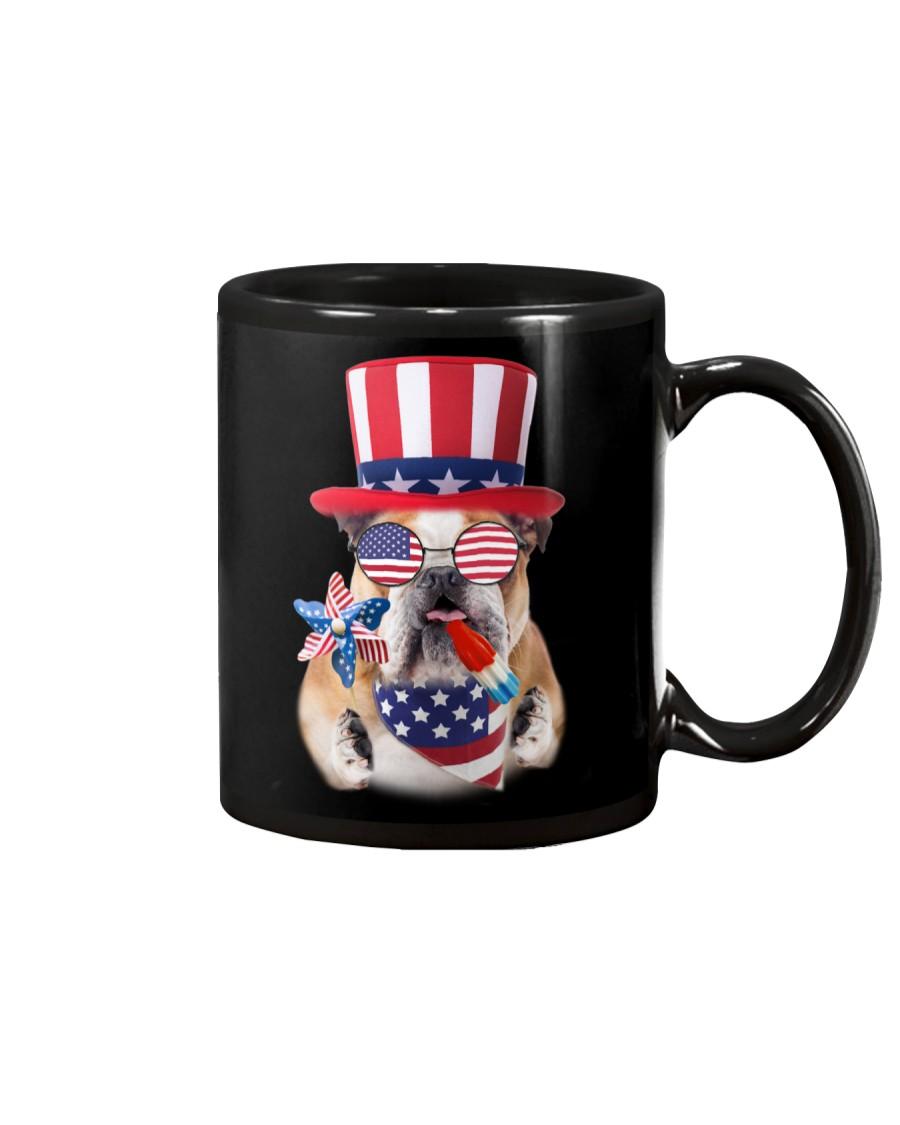 Independence Day Bulldog Mug showcase