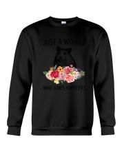 Just A Woman Hamster Crewneck Sweatshirt thumbnail