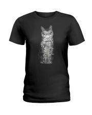 Cat Bling Xmas Ladies T-Shirt thumbnail