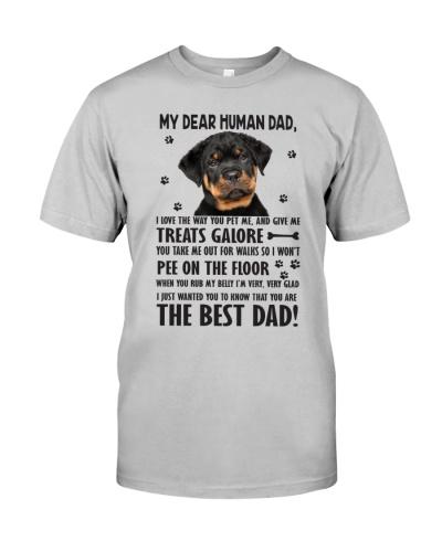 Human Dad Rottweiler