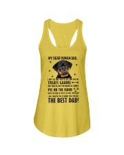 Human Dad Rottweiler Ladies Flowy Tank front