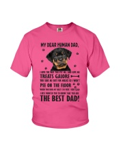Human Dad Rottweiler Youth T-Shirt front