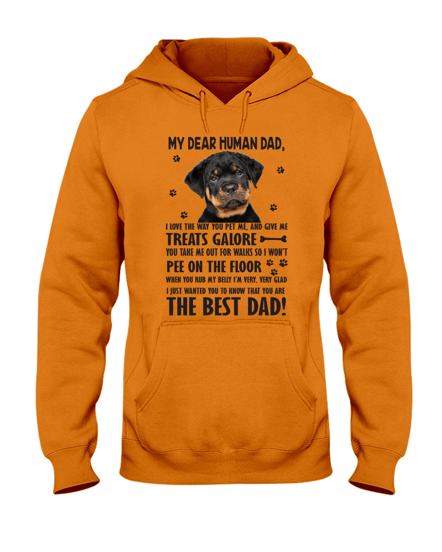 Human Dad Rottweiler Hooded Sweatshirt