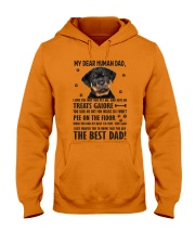 Human Dad Rottweiler Hooded Sweatshirt front
