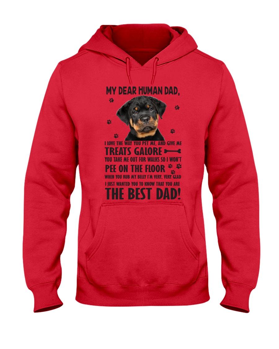 Human Dad Rottweiler Hooded Sweatshirt