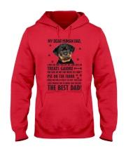 Human Dad Rottweiler Hooded Sweatshirt front