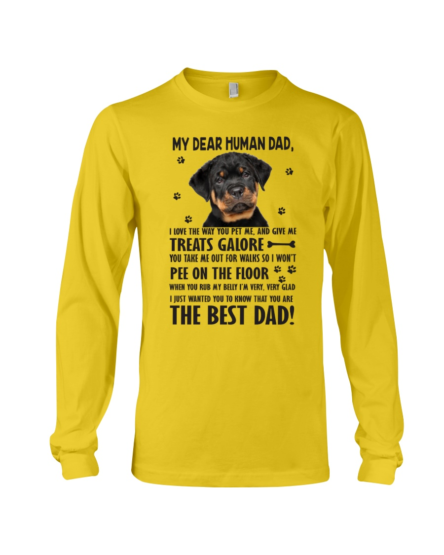 Human Dad Rottweiler Long Sleeve Tee