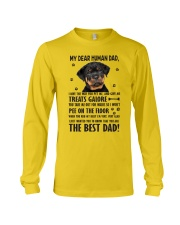 Human Dad Rottweiler Long Sleeve Tee front