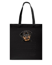 Human Dad Rottweiler Tote Bag tile