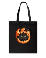 Black Cat In Pumpkin Tote Bag thumbnail