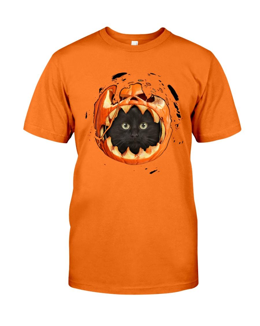 Black Cat In Pumpkin Classic T-Shirt
