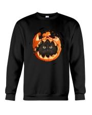 Black Cat In Pumpkin Crewneck Sweatshirt thumbnail