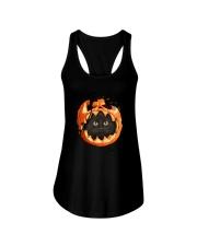 Black Cat In Pumpkin Ladies Flowy Tank thumbnail