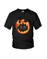 Black Cat In Pumpkin Youth T-Shirt thumbnail