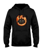 Black Cat In Pumpkin Hooded Sweatshirt thumbnail