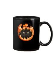 Black Cat In Pumpkin Mug thumbnail