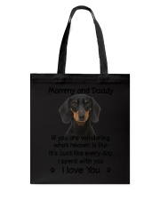 Dachshund Mommy And Daddy Tote Bag thumbnail