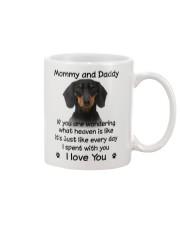 Dachshund Mommy And Daddy Mug front