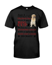 Labrador Retriever Crazy Funny Classic T-Shirt tile