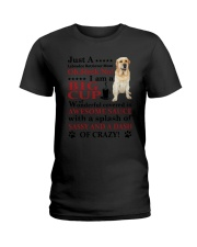 Labrador Retriever Crazy Funny Ladies T-Shirt tile