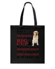 Labrador Retriever Crazy Funny Tote Bag tile