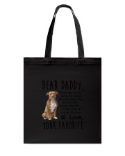 Daddy American Staffordshire Terrier Tote Bag thumbnail
