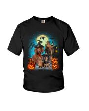 Dachshund Halloween Youth T-Shirt thumbnail