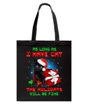 Holiday Black Cat Tote Bag thumbnail
