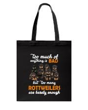Rottweiler Barely Enough Tote Bag thumbnail