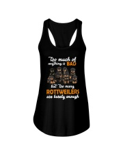 Rottweiler Barely Enough Ladies Flowy Tank thumbnail
