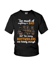 Rottweiler Barely Enough Youth T-Shirt thumbnail