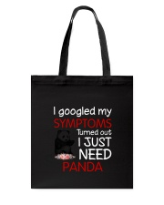 Panda Symptoms Tote Bag thumbnail