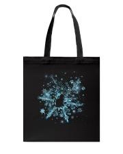 Snowflake Cat Pawprint Tote Bag thumbnail