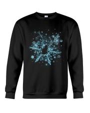 Snowflake Cat Pawprint Crewneck Sweatshirt front