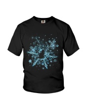 Snowflake Cat Pawprint Youth T-Shirt thumbnail