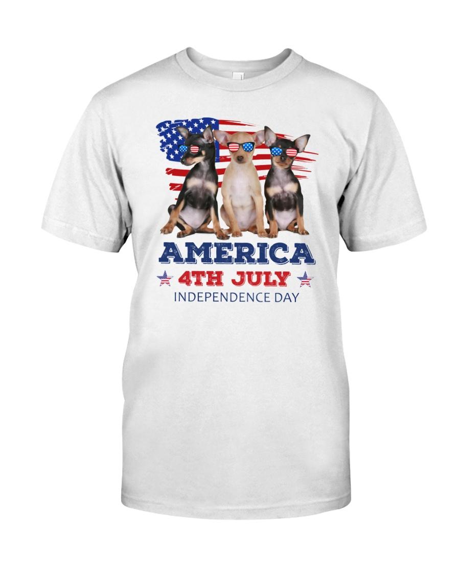 4th July Chihuahua Classic T-Shirt