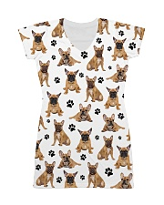 French Bulldog Pawprint All-over Dress thumbnail