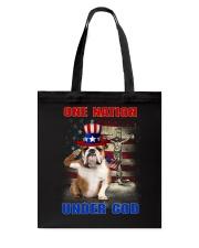 Bulldog One Nation  Tote Bag thumbnail