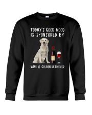 Good Mood Wine Golden Retriever Crewneck Sweatshirt thumbnail