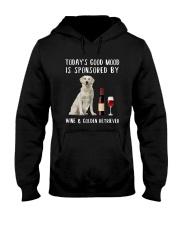 Good Mood Wine Golden Retriever Hooded Sweatshirt thumbnail