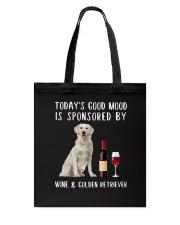 Good Mood Wine Golden Retriever Tote Bag thumbnail
