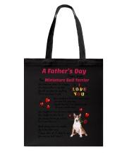 Poem From Miniature Bull Terrier Tote Bag thumbnail