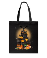 Black Cat Tree Halloween Tote Bag thumbnail