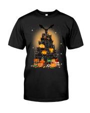 Black Cat Tree Halloween Classic T-Shirt thumbnail