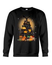 Black Cat Tree Halloween Crewneck Sweatshirt front
