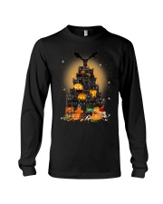 Black Cat Tree Halloween Long Sleeve Tee thumbnail