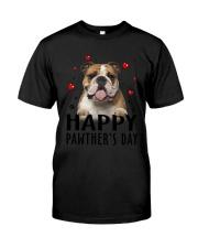 Bulldog Happy Pawther Day Classic T-Shirt thumbnail