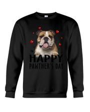 Bulldog Happy Pawther Day Crewneck Sweatshirt thumbnail